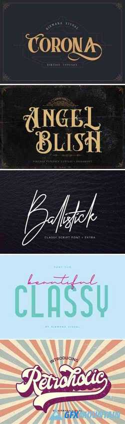 6 Sophisticated Fonts