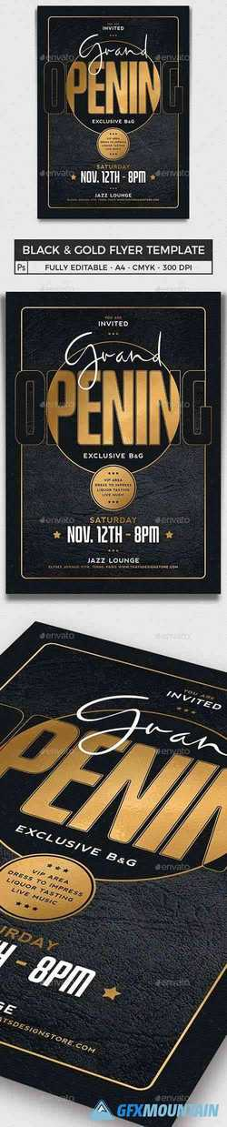 Black and Gold Flyer Template V16 25180440