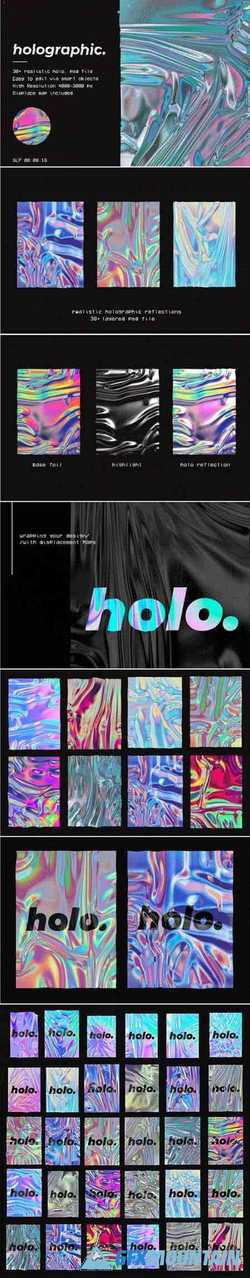 HOLOGRAPHIC FOIL MOCK-UP TEMPLATE - 4385953