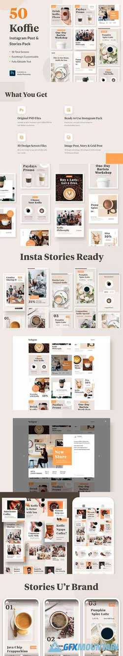 Instagram Template - Koffie 4366355