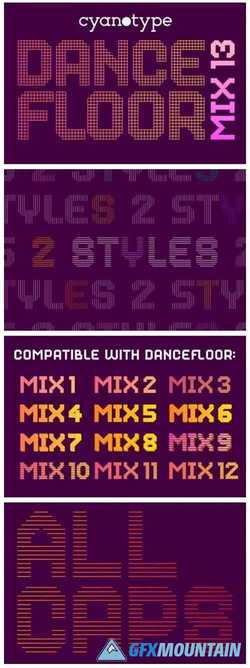 Dance Floor Mix 13 Font