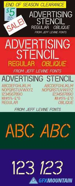 Advertising Stencil JNL Complete Family