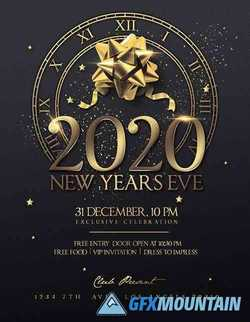 New year's eve invitation flyer design