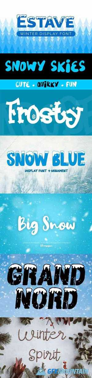 7 Winter Fonts Collection