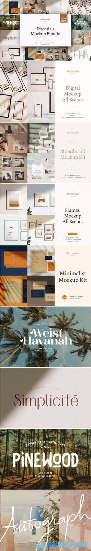 ESSENTIALS MOCKUP BUNDLE - 4355910