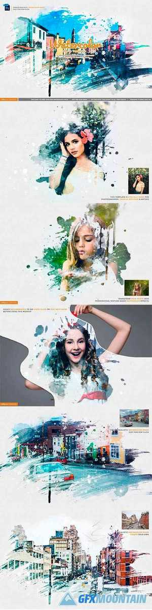 Watercolor Photo Template 4434806