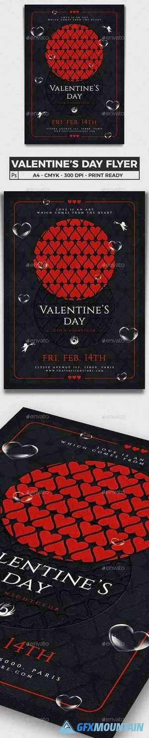 Valentines Day Flyer Template V22 25406026
