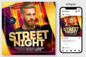 Street Night Party Flyer 4444983