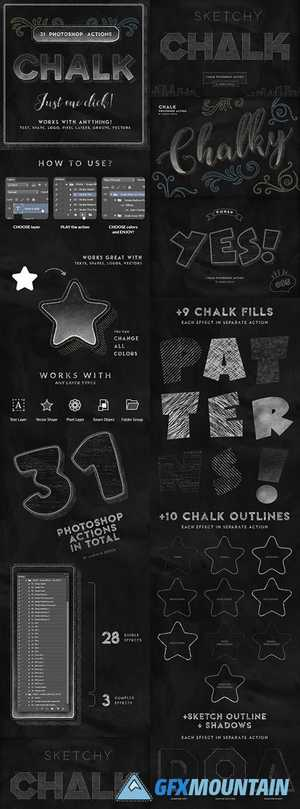 CHALK PHOTOSHOP ACTION - 25362744