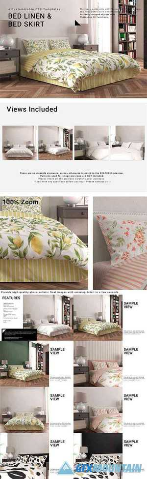Bed Linen with Tailored Bed Skirt 3950962