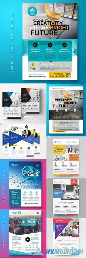 Multipurpose Corporate Business Flyer PSD Template Set