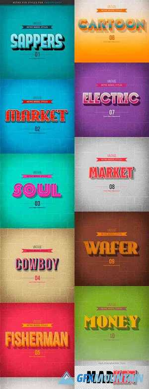 Vintage Retro Text Effect 25471272