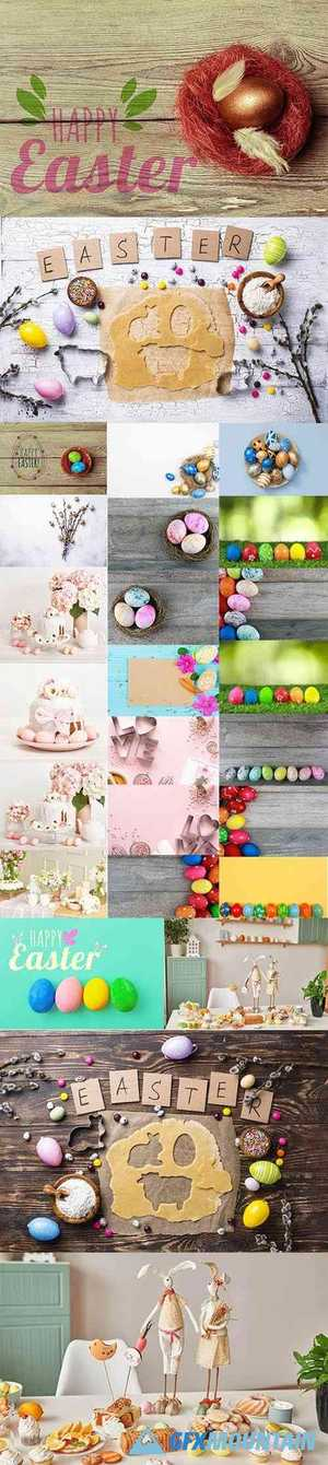 Happy Easter Holiday Decorations Bundle