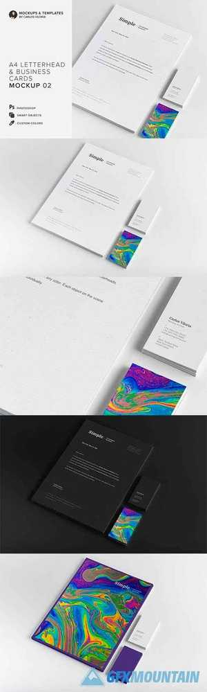 A4 and Business Cards Mockup 02 3808708
