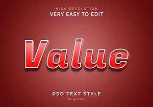 Value amazing 3d text effect