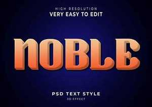 Noble amazing 3d text effect