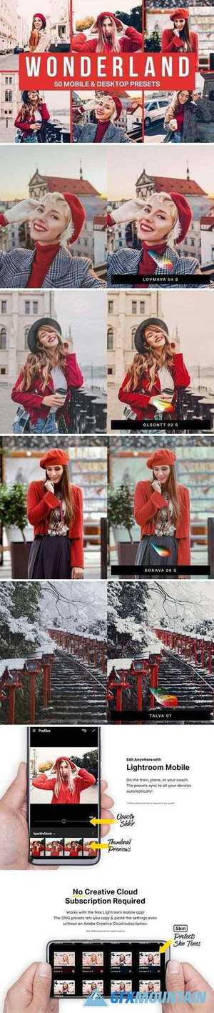 50 Wonderland Lightroom Presets LUTs 4511956