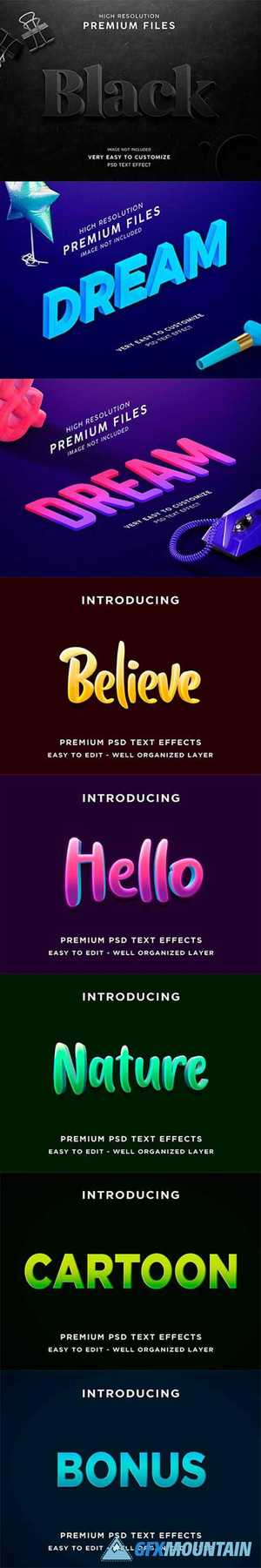 3D Text effect template