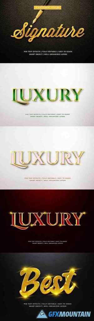 3d Luxury Text Style Effect Mockup 26054193