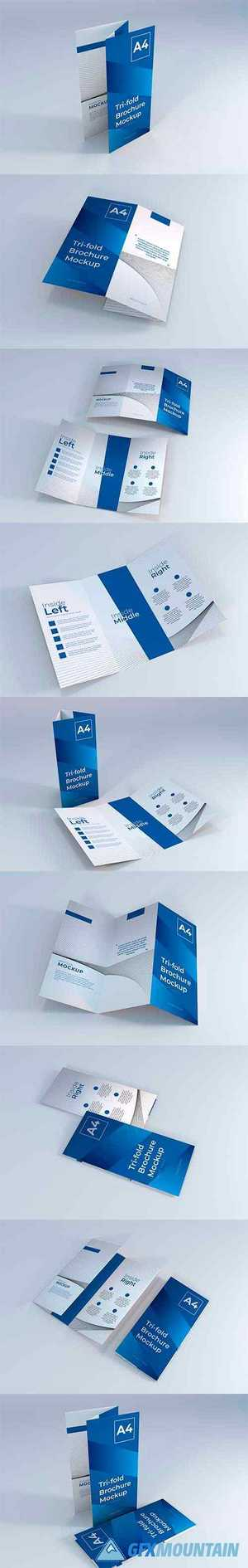 Realistic a4 trifold brochure mockup 2
