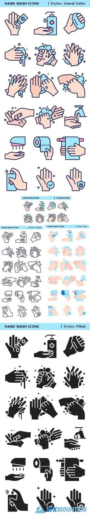 Hand Wash Icons