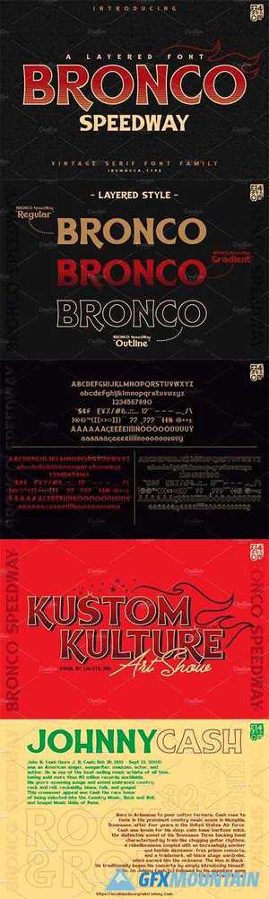 BRONCO SpeedWay Family Font