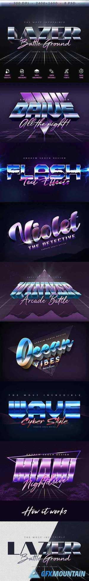 80s Retro Text Effects 26539957