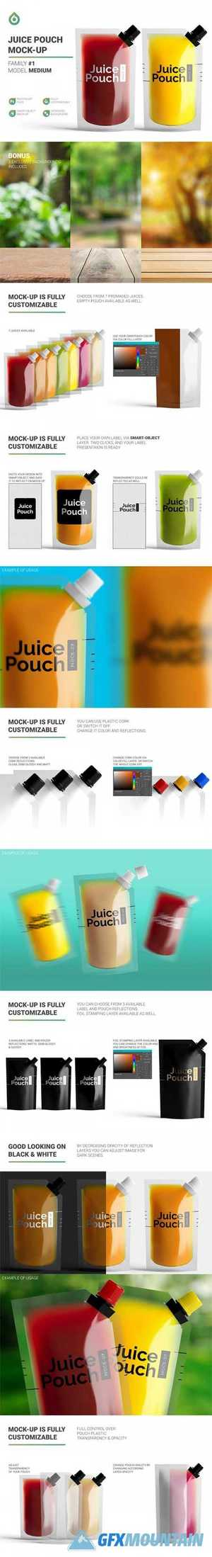 Juice Doypack Pouch Mockup 4880165