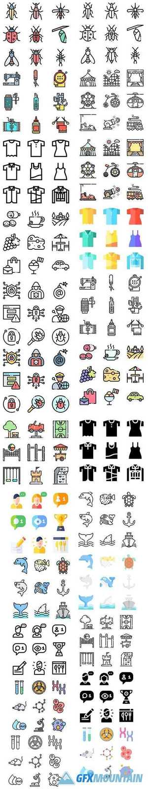 Vector Icons - More 1000+ Icons in 1 Pack!