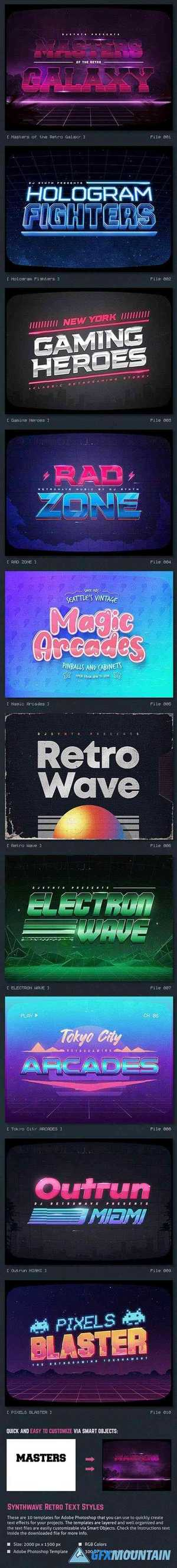 Synthwave 80s Retro Text Effects V3 26742705