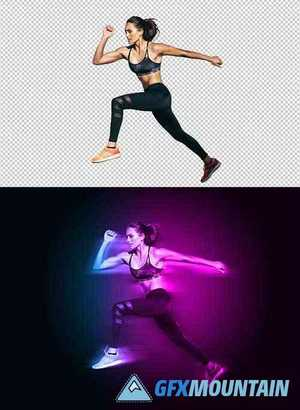 Motion and Dual Lighting Photo Effect Template 359536700