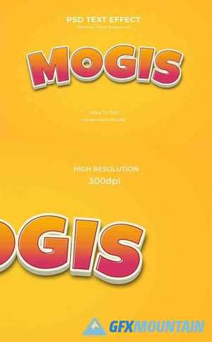 Mogis - 3D Game Logo Text Effect 26999525