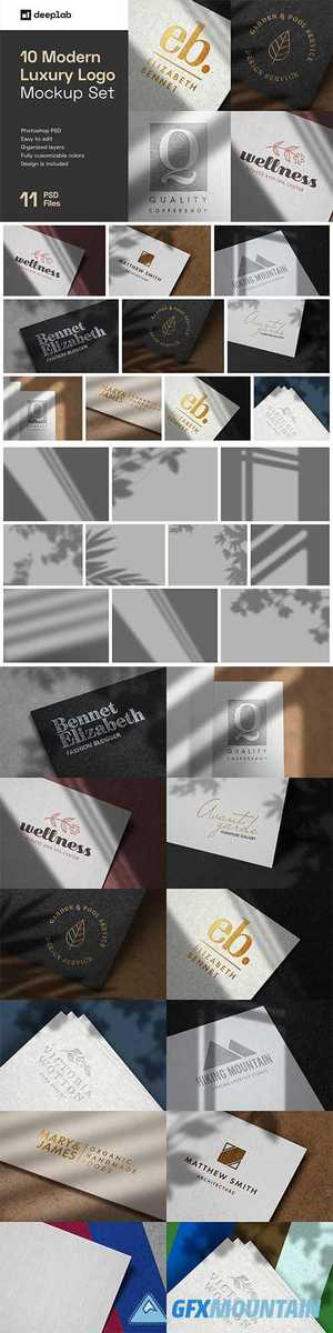Modern Luxury Logo Mockup Set 1 5109680