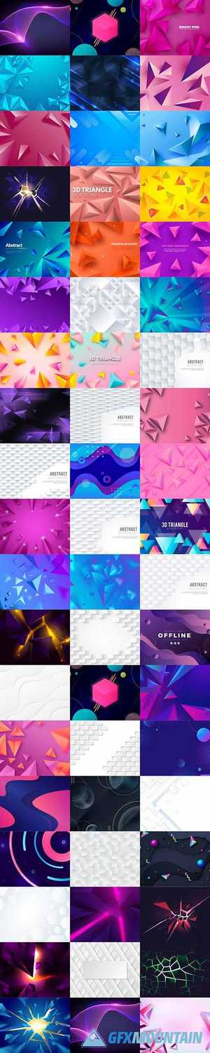 3d vector background