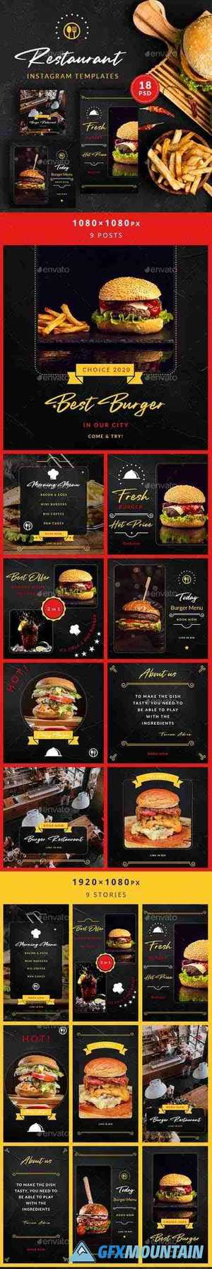 Burger Restaurant Instagram Posts&Stories 26312636