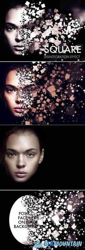 Square Dispersion Photo Effect Mockup 363639602