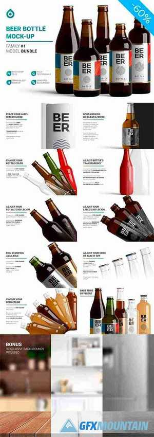 Beer Bottle Mockup 5027001
