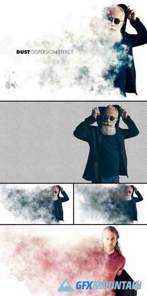 Dust or Smoke Dispersion Effect Mockup 364785470