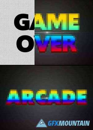 Retro Game Text Effect Mockup 367557165