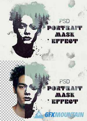 Stamp Portrait Dual Exposure Mockup 368095716