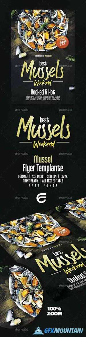 Mussels Seafood Flyer Template 26093306