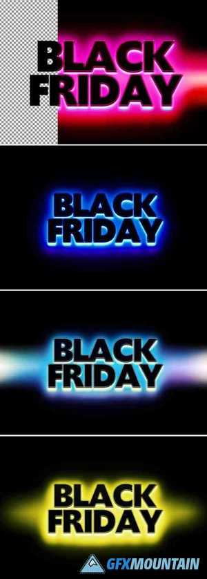 Black Friday Colorful Text Effect 369353195