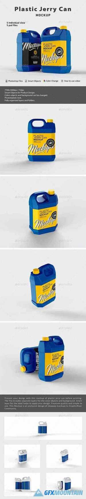 Plastic Jerry Can Mockup 26561750