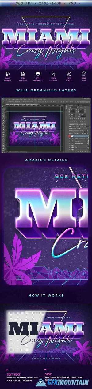 Miami - 80s Retro Text Effect 27731071