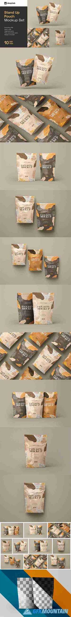 Stand Up Pouch Mockup Set 5284160