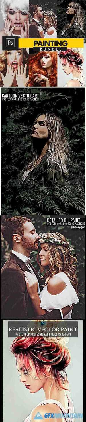 Painting Photoshop Actions Bundle 28379976