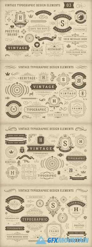 Vintage Typographic Design Elements 4956721