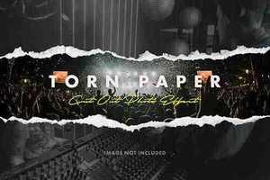 Torn Paper Cutout Photo Effect 5375654
