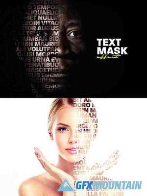 Cut Out Portrait Text Mask Effect Mockup 373554675