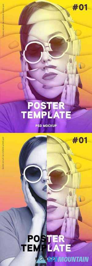 Modern Poster Design Photo Effect 379965786